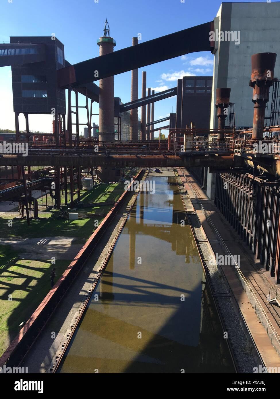 Zollverein Coal Mine Industrial Complex in Essen, Germany: the kokerei - Stock Image