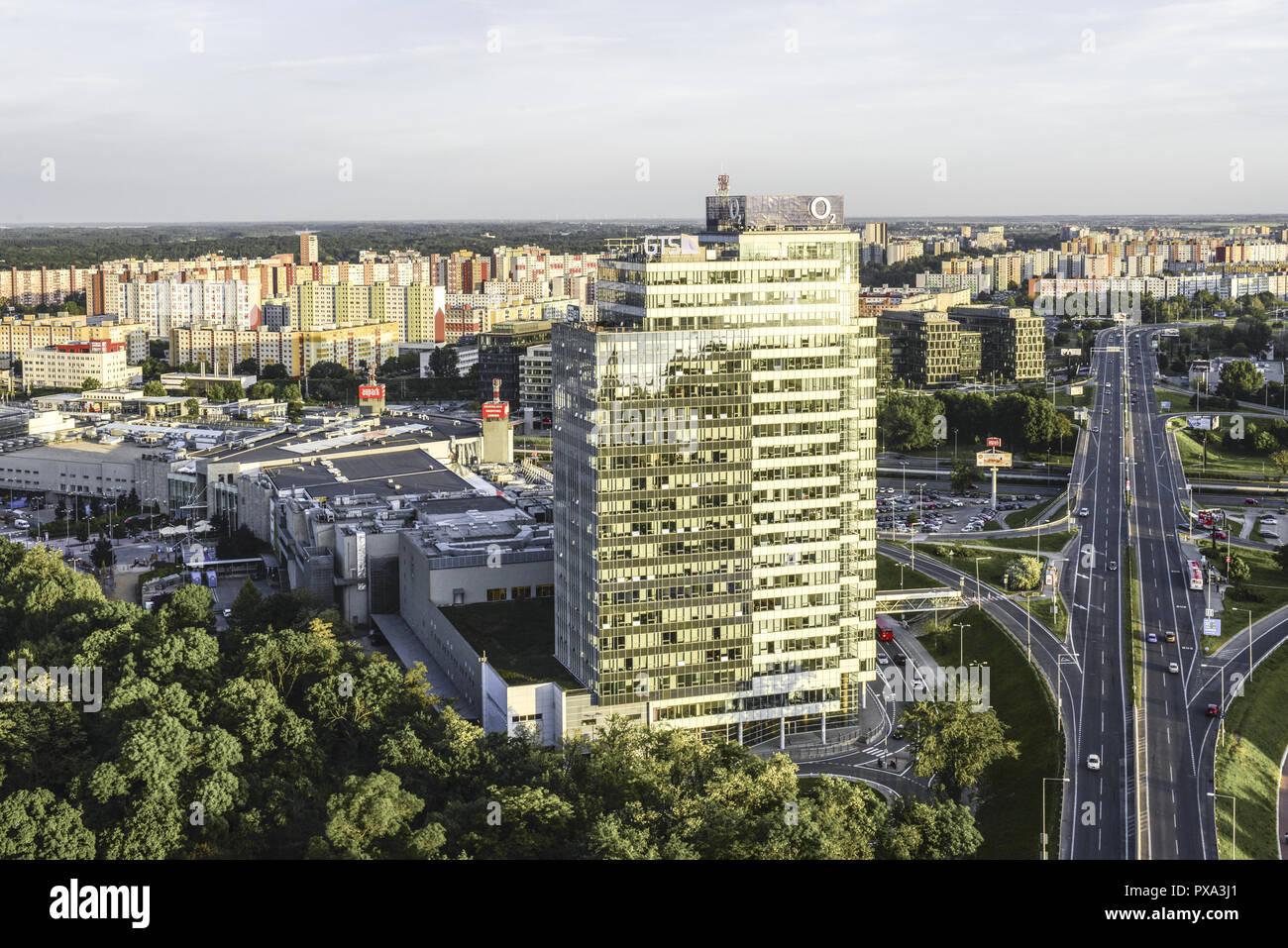 Bratislava, Petrzalka, Aupark, Slovak Republic, Pressburg Stock Photo