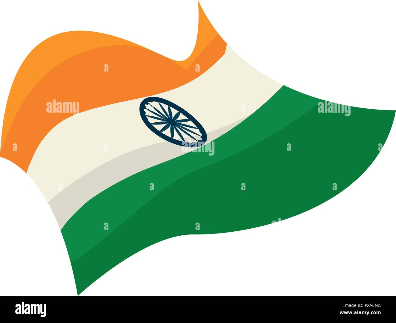 0ba4d1b5c8c flag national india independence day vector illustration - Stock Vector