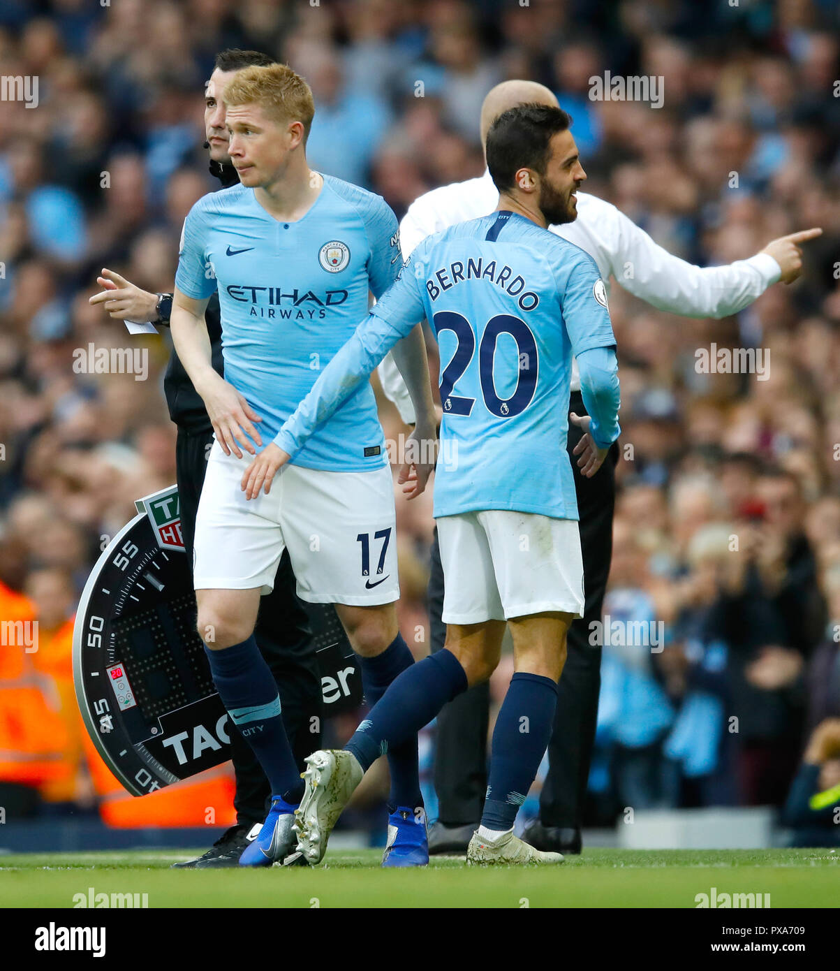 Manchester Citys Kevin De Bruyne Is Substituted On For