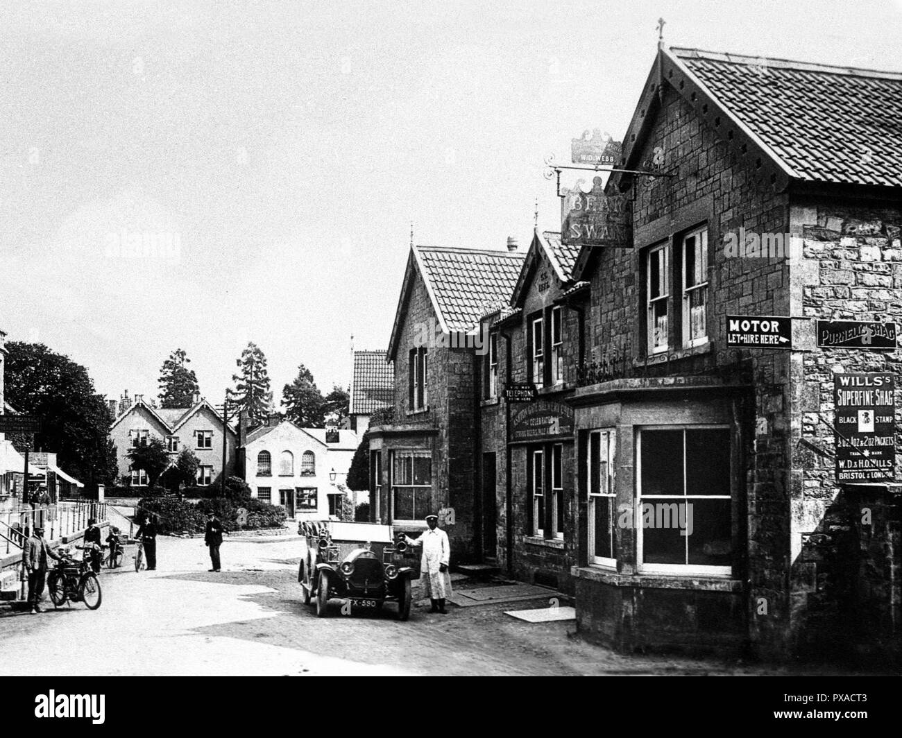 South Parade, Chew Magna early 1900's - Stock Image