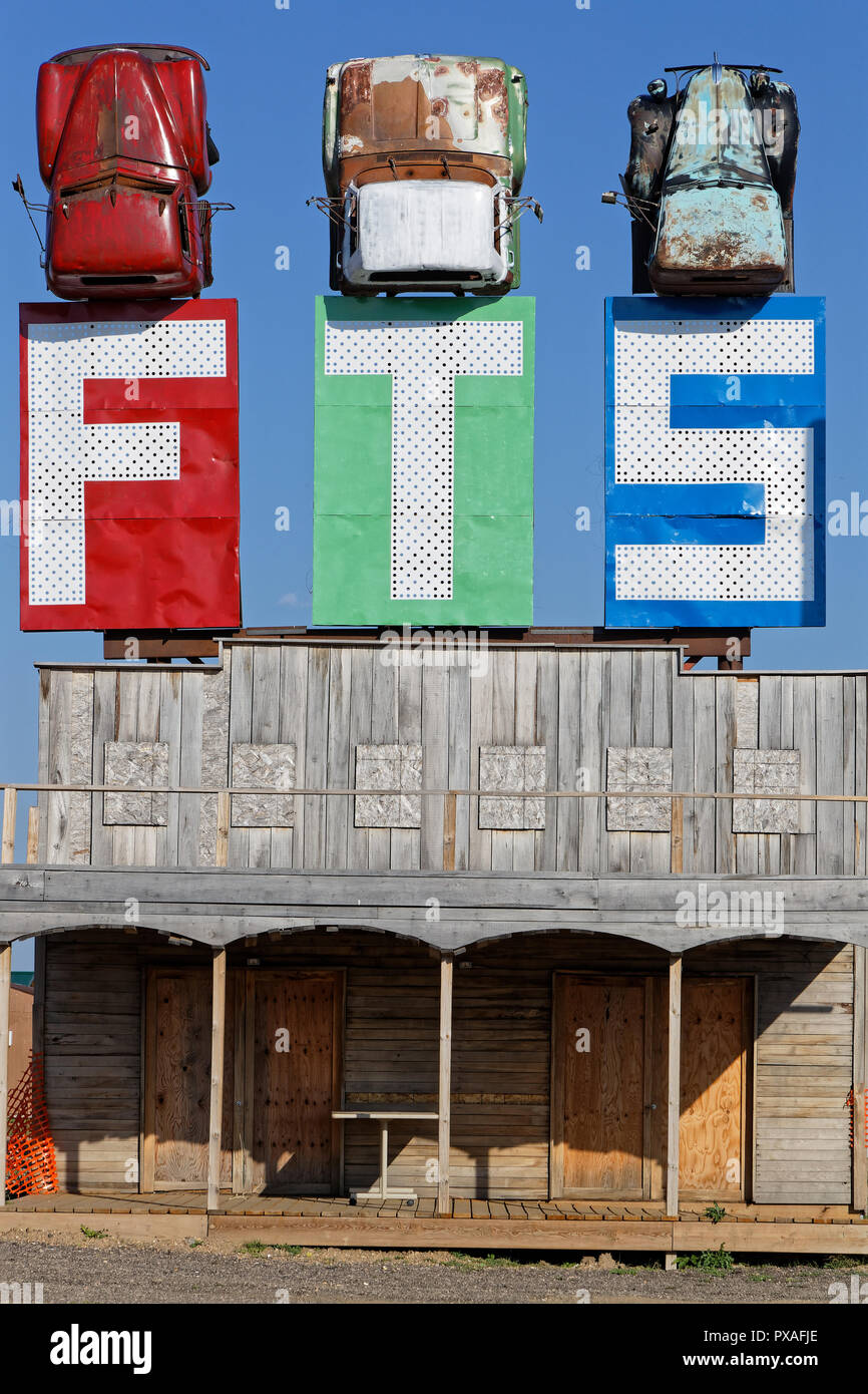 STURGIS, SOUTH DAKOTA, September 10, 2018 : Full throttle Saloon is called the World Largest Biker Bar. Events for numbers of bikers stand here each y Stock Photo