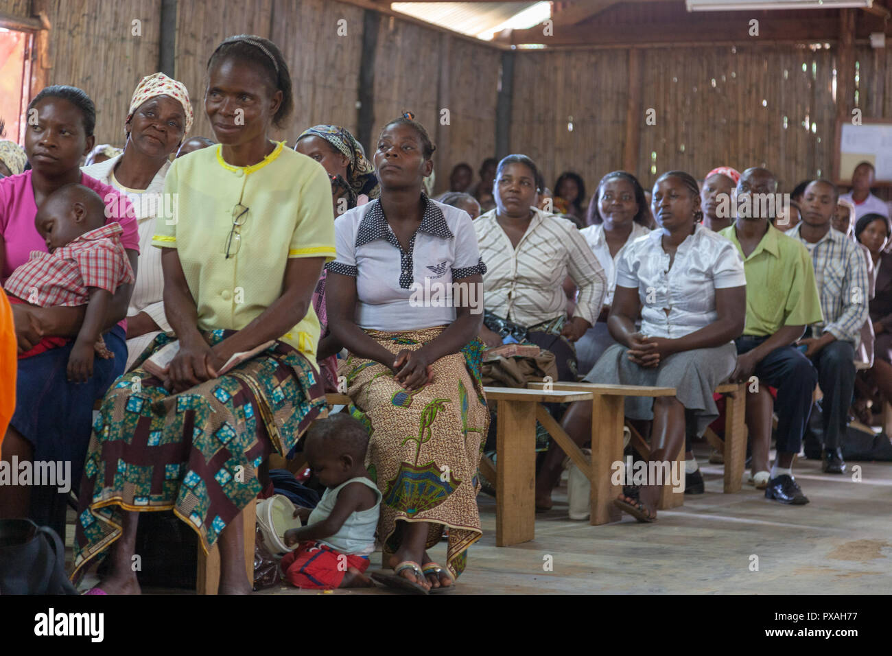 A series of images from Mozambique assisting building a church in Xai Xai - Stock Image
