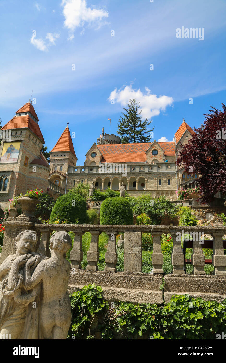 The front view of the Castle of Bory at Székesfehérvár, Hungary - Stock Image