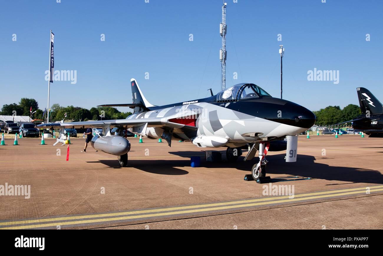 Hawker Hunter Aviation Ltd (HHA) - Hawker Hunter MK-58 - Stock Image