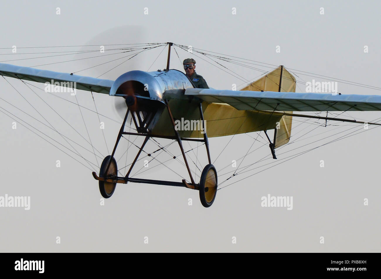 1912 Blackburn Monoplane Type D, the oldest airworthy aircraft of British origin anywhere in the world. Vintage plane from early days of manned flight - Stock Image