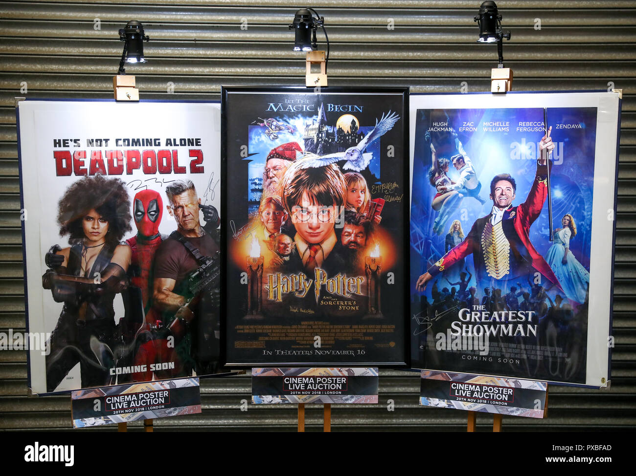 Embargoed To 0001 Monday October 22 Movie Posters For Deadpool 2 Signed By Ryan Reynolds And