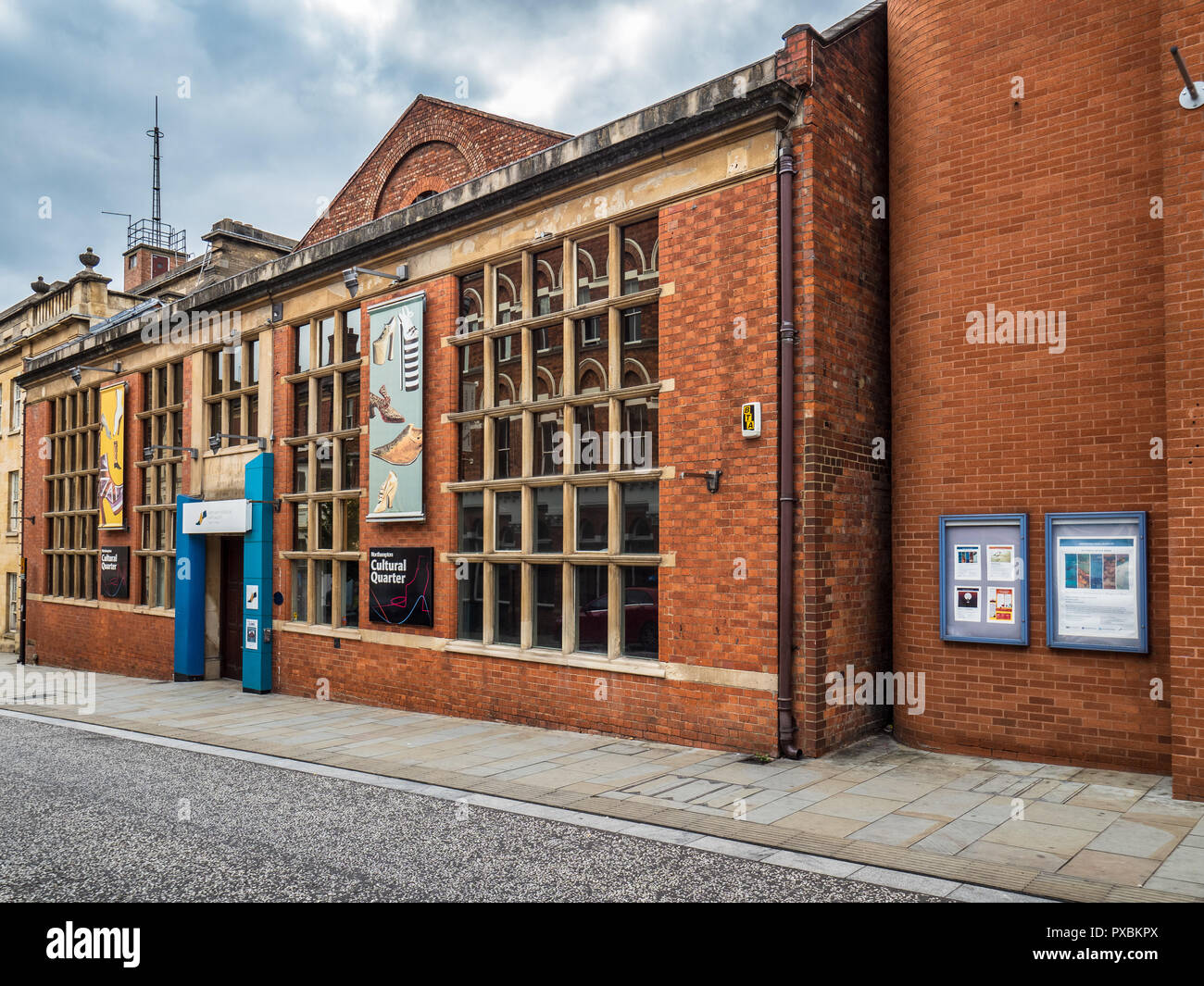 Northampton Museum and Art Gallery - houses the largest collection of shoes in the world (over 12,000 pairs). Established 1865, current site 1884. - Stock Image