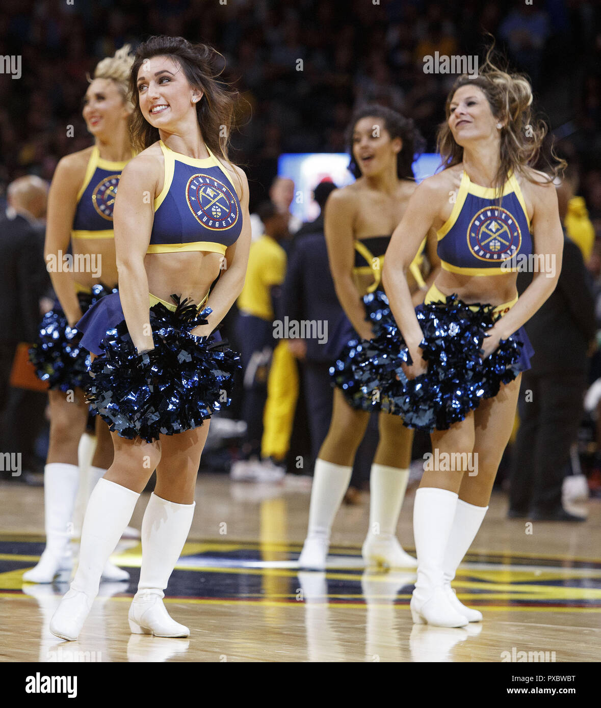 Denver Nuggets Dancers: Denver, Colorado, USA. 20th Oct, 2018. The Denver Nuggets