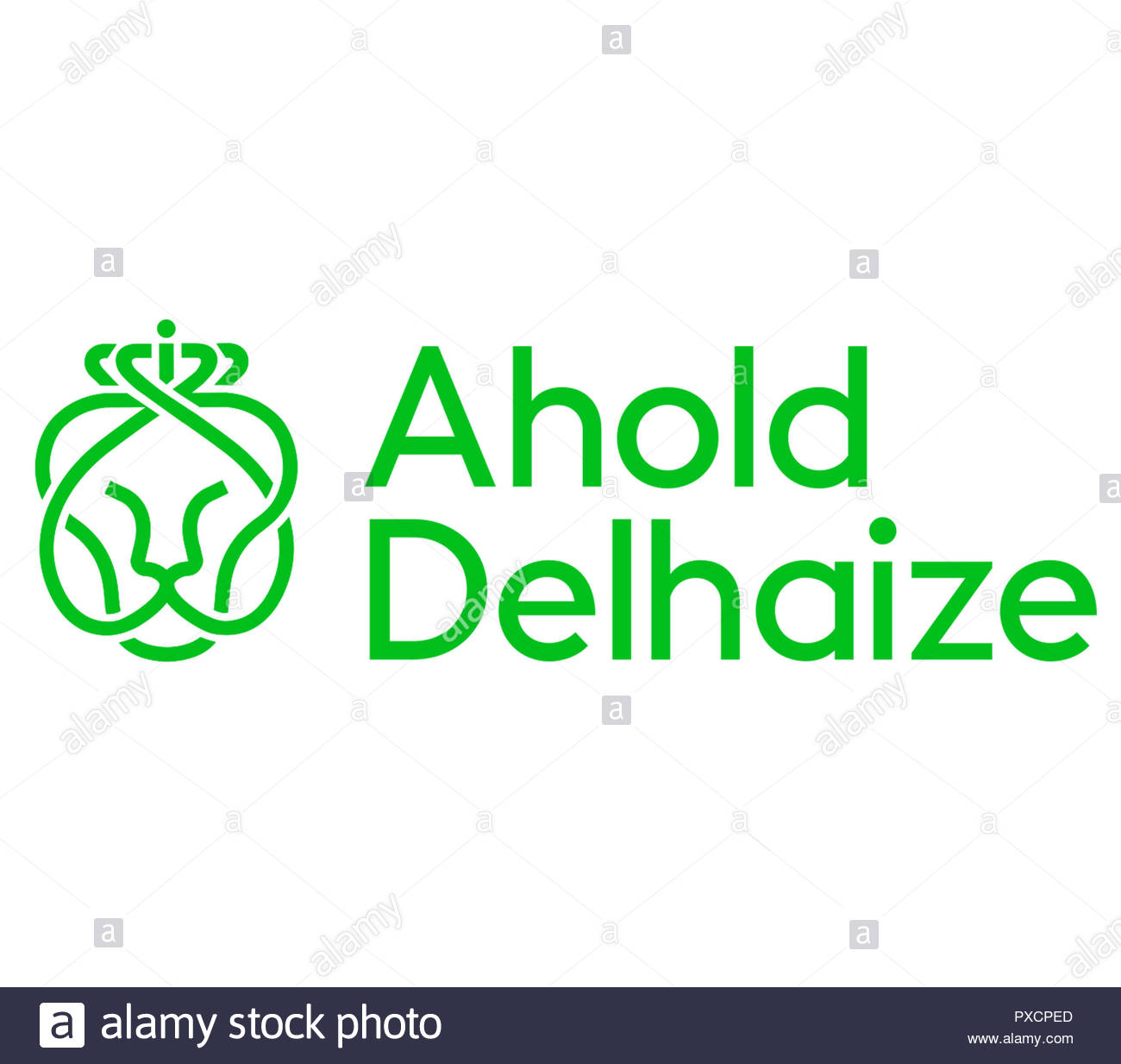 Ahold Delhaize logo sign - Stock Image