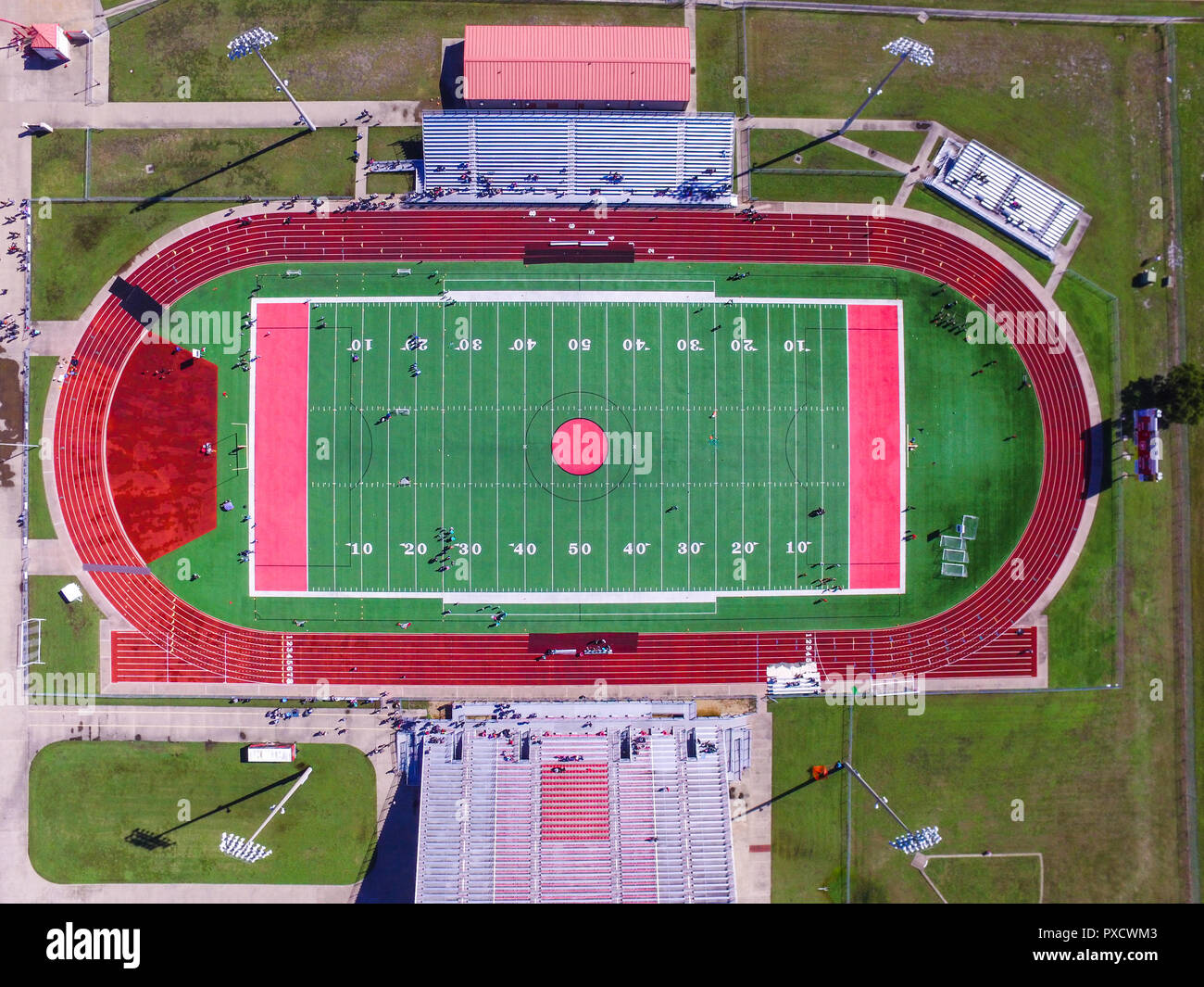 Aerial Football Field - Stock Image