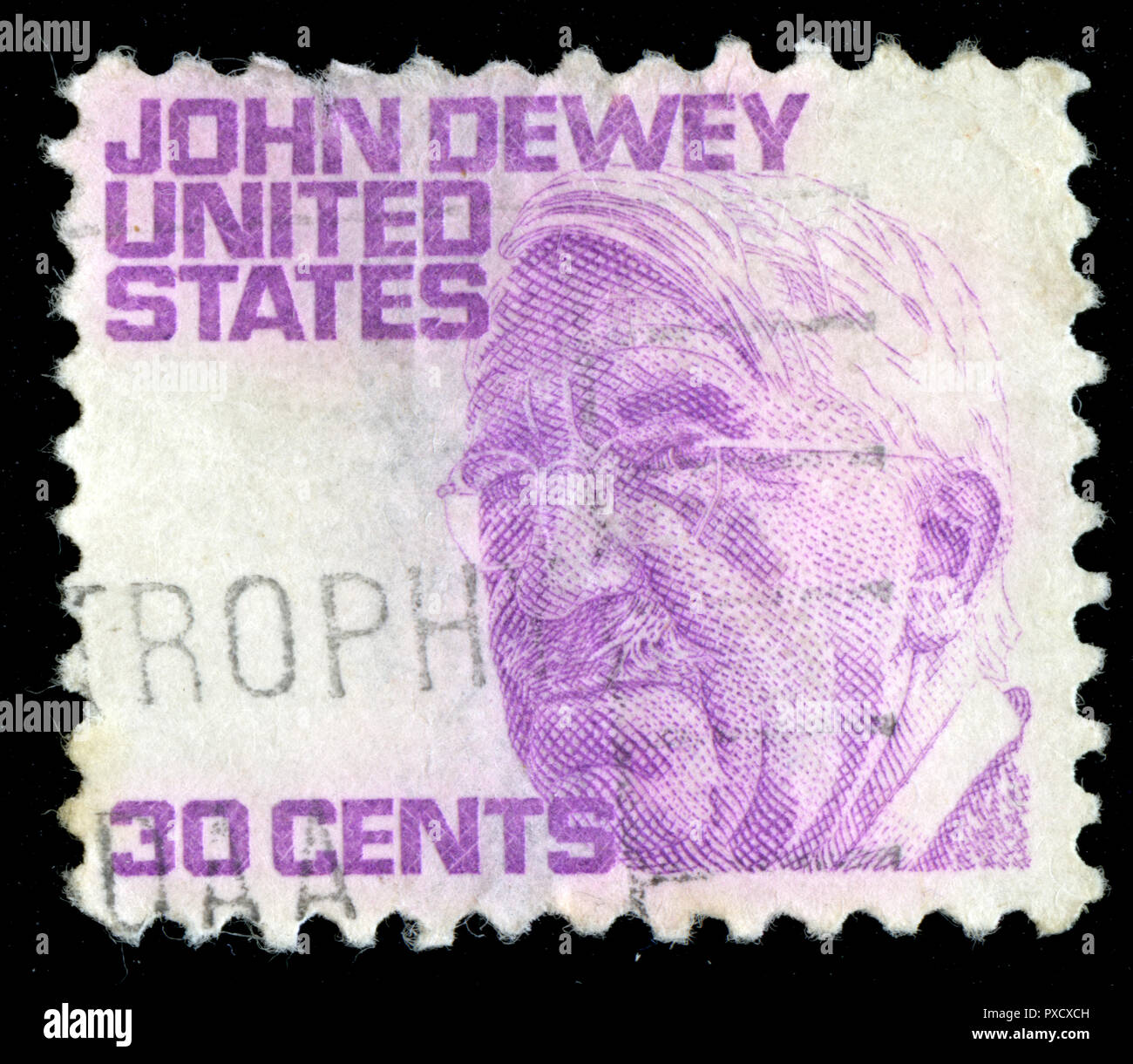 Postmarked stamp from United States of America (USA) in the Famous Americans series issued in 1968 - Stock Image
