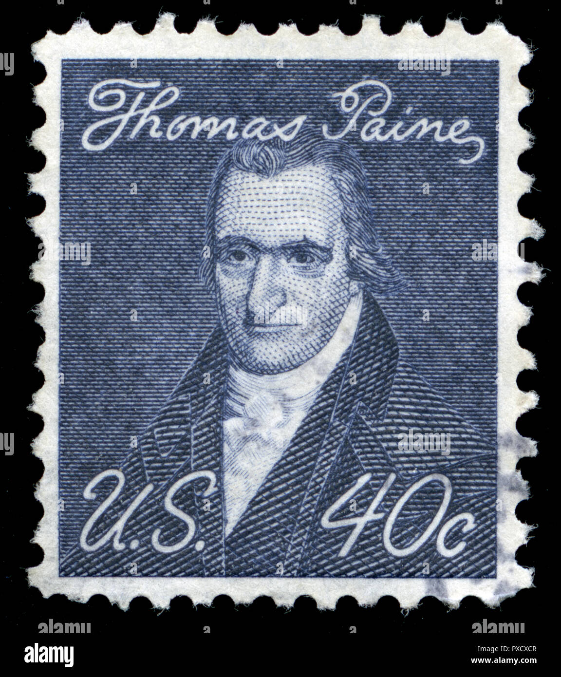 Postmarked stamp from United States of America (USA) in the Famous Americans series issued in 1973 - Stock Image