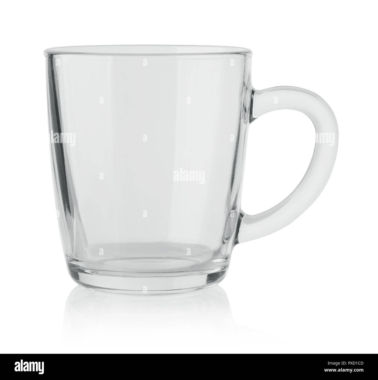 Glass mug isolated on white background - Stock Image