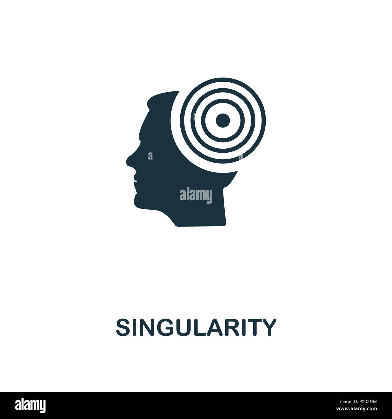 Singularity icon. Premium style design from artificial intelligence collection. UX and UI. Pixel perfect singularity icon. For web design, apps, softw - Stock Image