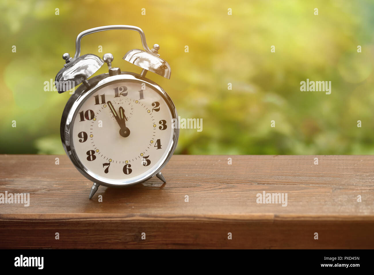 alarm clock summer appointment holidays urgent school - Stock Image