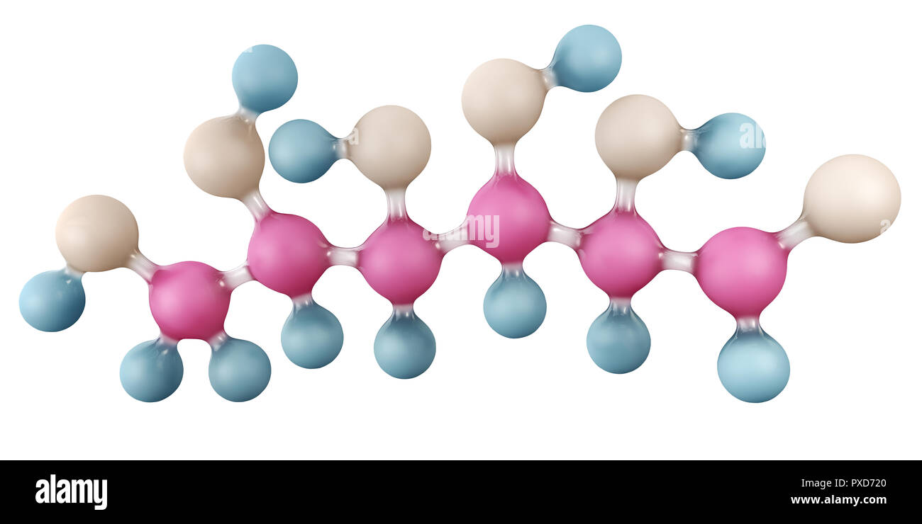 3d Illustration of Glucose molecule isolated on white, C6H12O6. - Stock Image