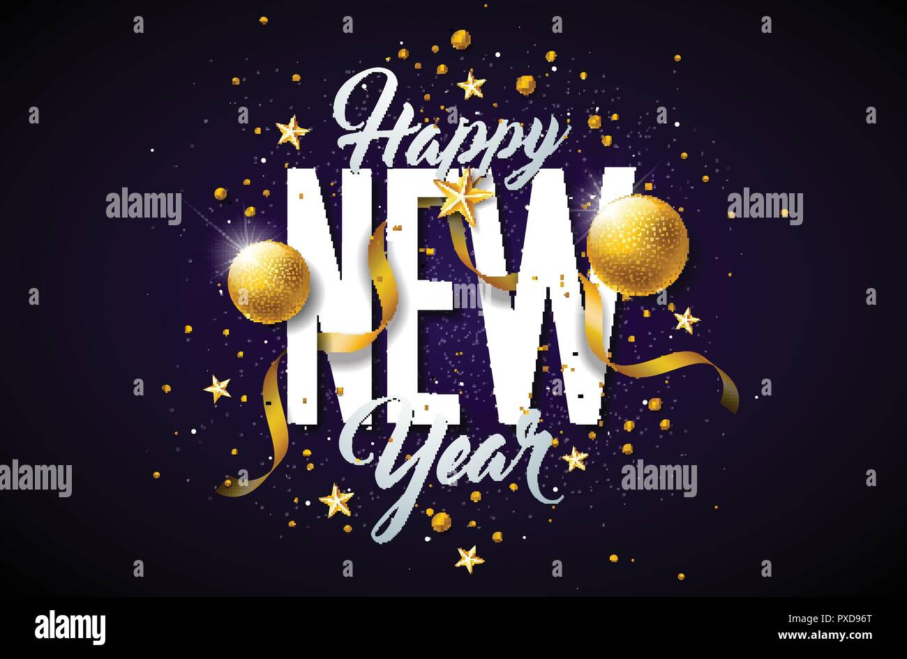 New year greeting 2019 Vector | Free Download