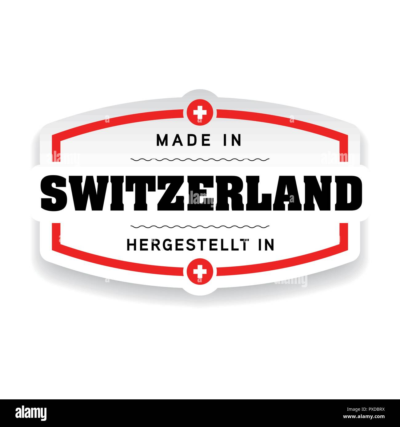Made in Switzerland label Stock Vector