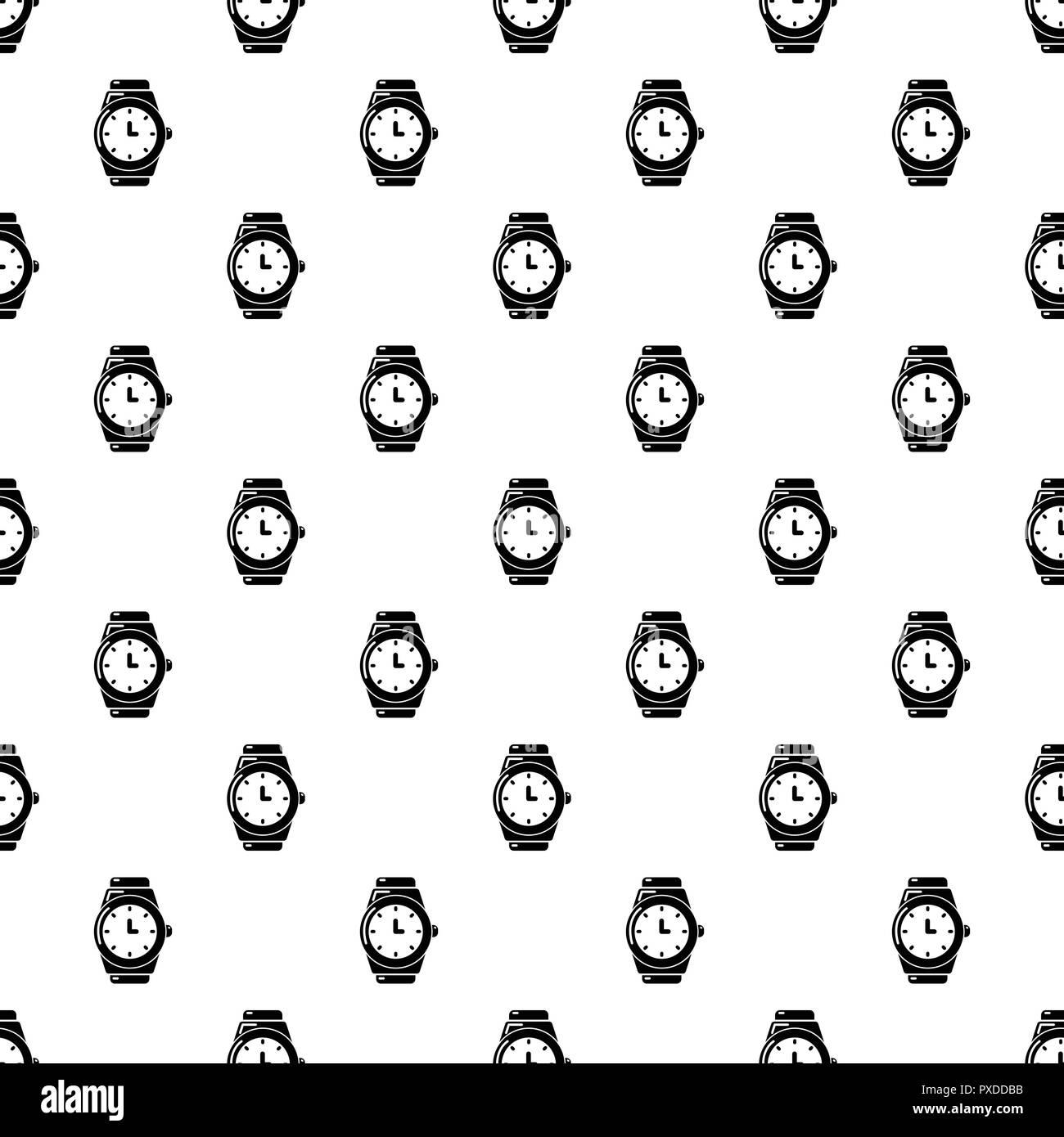 Wristwatch pattern vector seamless - Stock Image