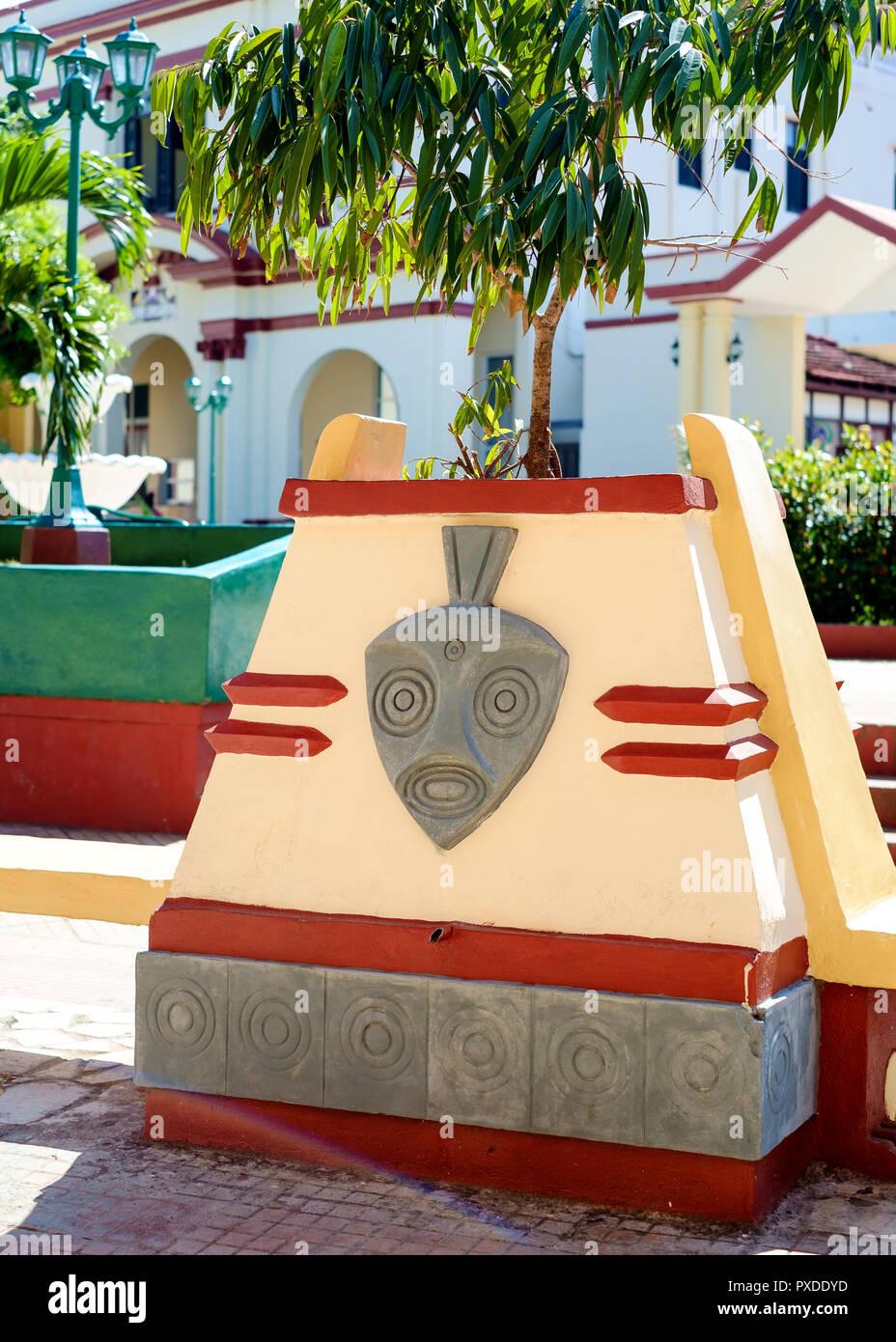Decorative Street Furniture, Baracoa, Cuba - Stock Image
