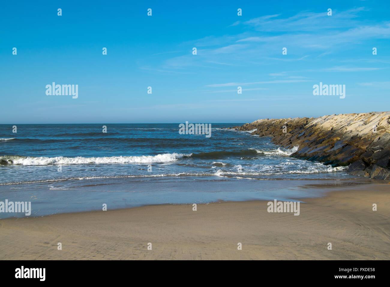 Ofir beach in Portugal, surf spot Stock Photo