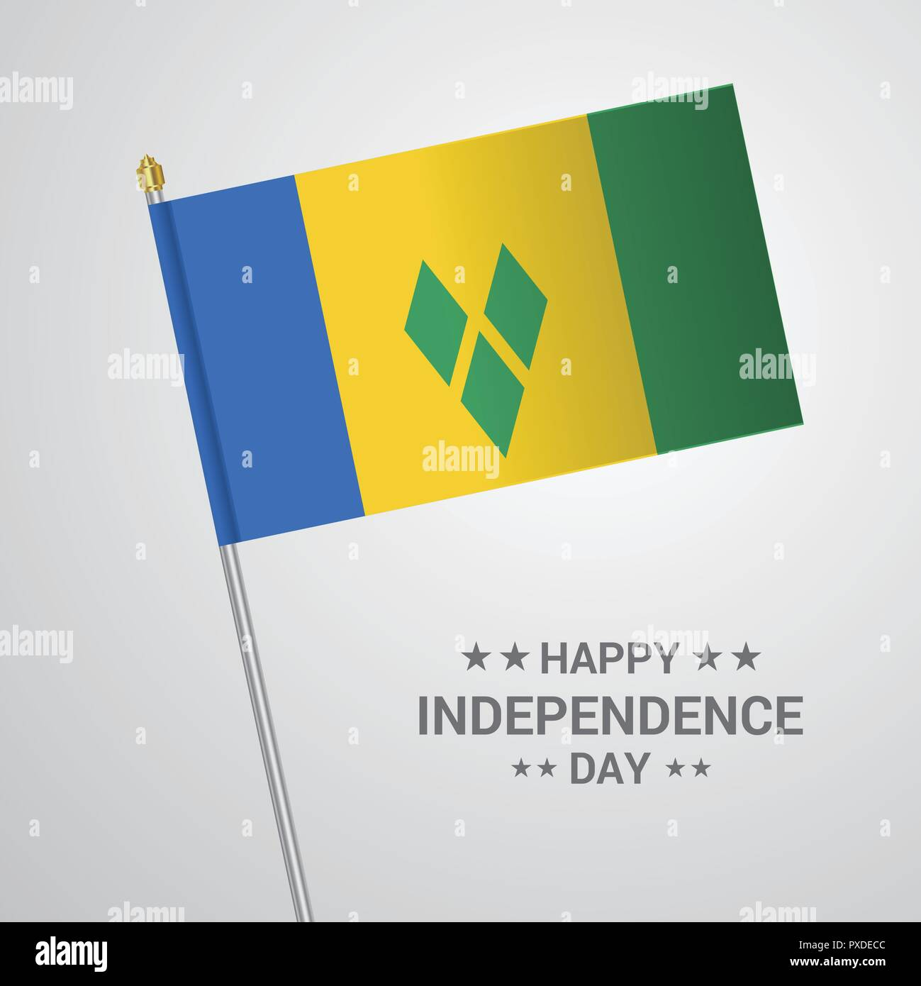 Saint Vincent and Grenadines Independence day typographic