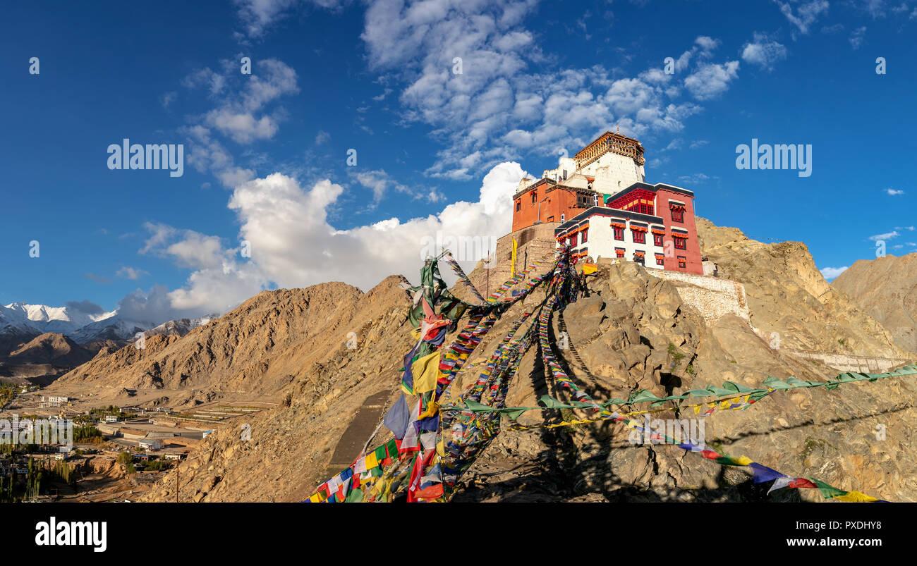 Namgyal Tsemo Gompa, Leh, Ladakh, Kashmir, India Stock Photo