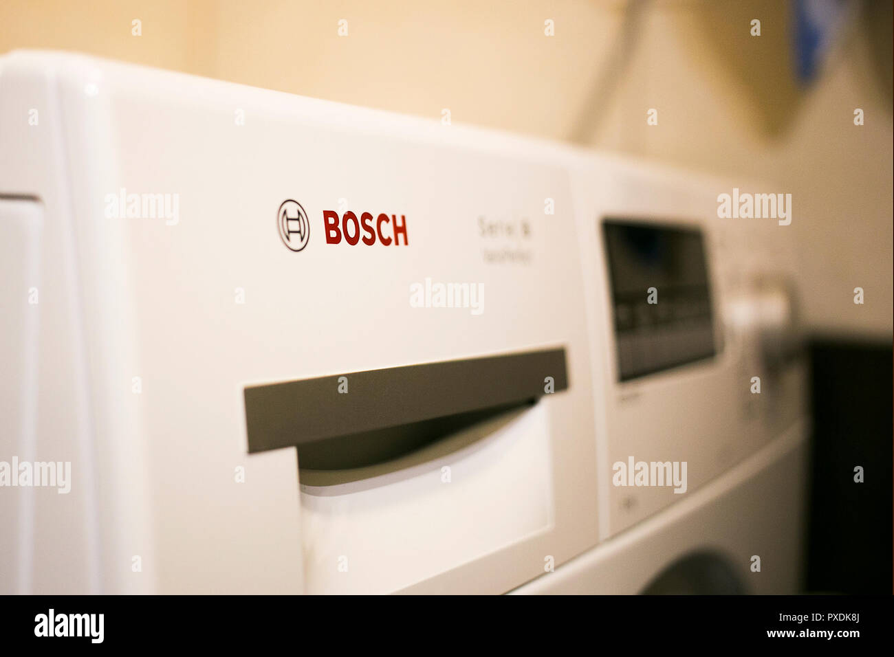 Washing Machine Logo Stock Photos & Washing Machine Logo Stock