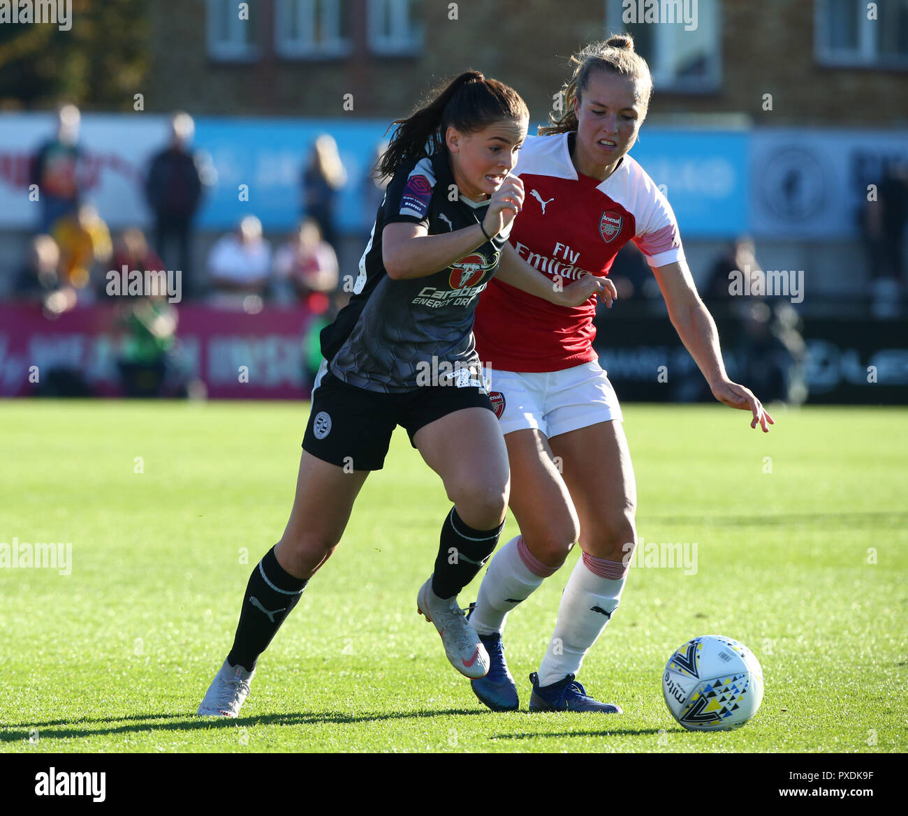 Lily Woodman of Reading FC Women during Women's Super League One match between Arsenal and Reading FC Women at Boredom Wood, Boreham Wood, England on  - Stock Image