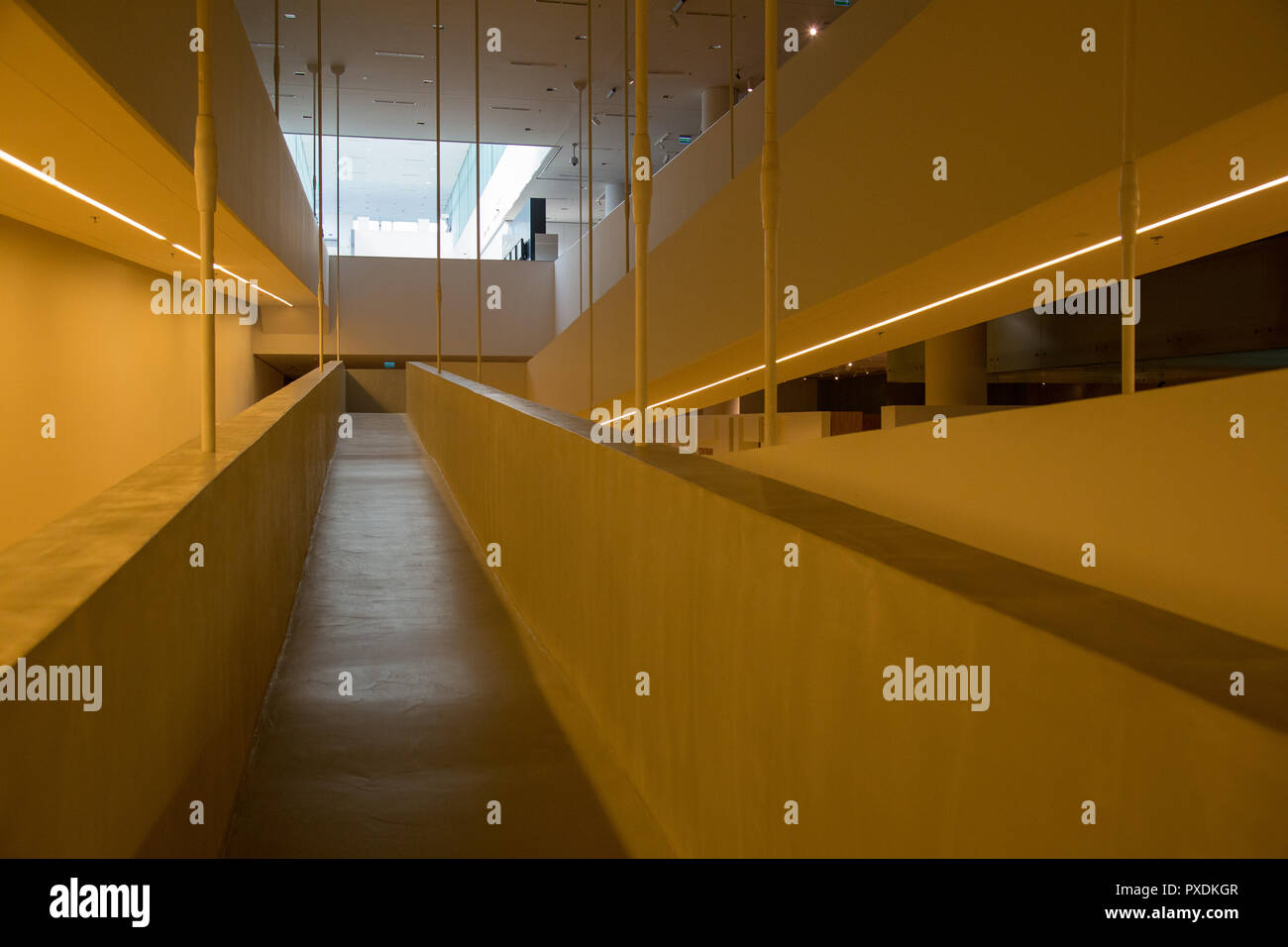Katowice, Poland: Interior of Silesian Museum Stock Photo