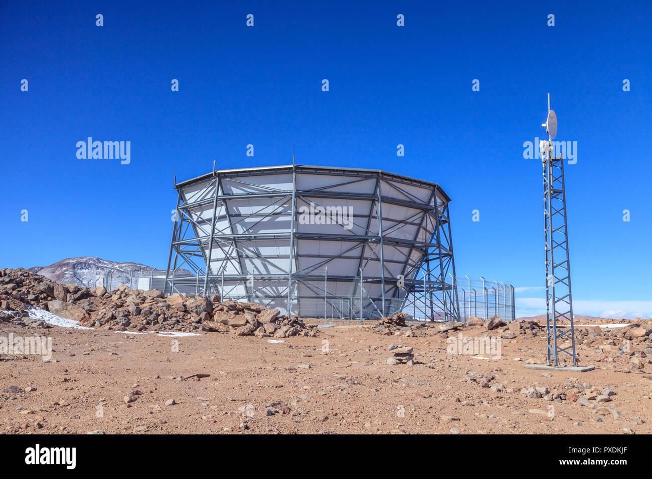 ATC radio-telescope at Cerro Toco - Stock Image
