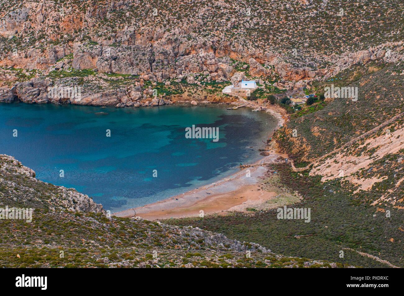 europe, greece, dodecanese, kalymnos, island, emborios - Stock Image