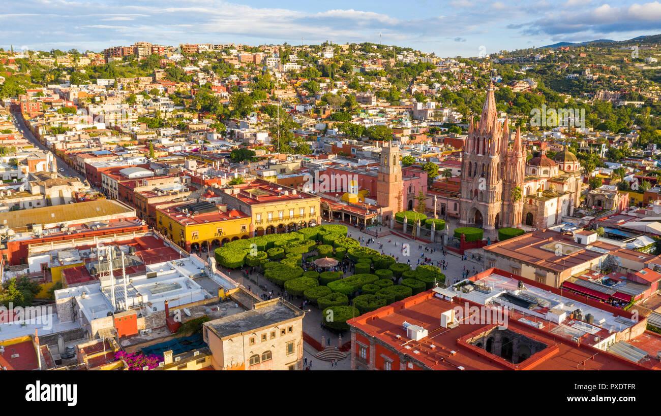 Parroquia de San Miguel Arcangel, San Miguel de Allende, Mexico Stock Photo