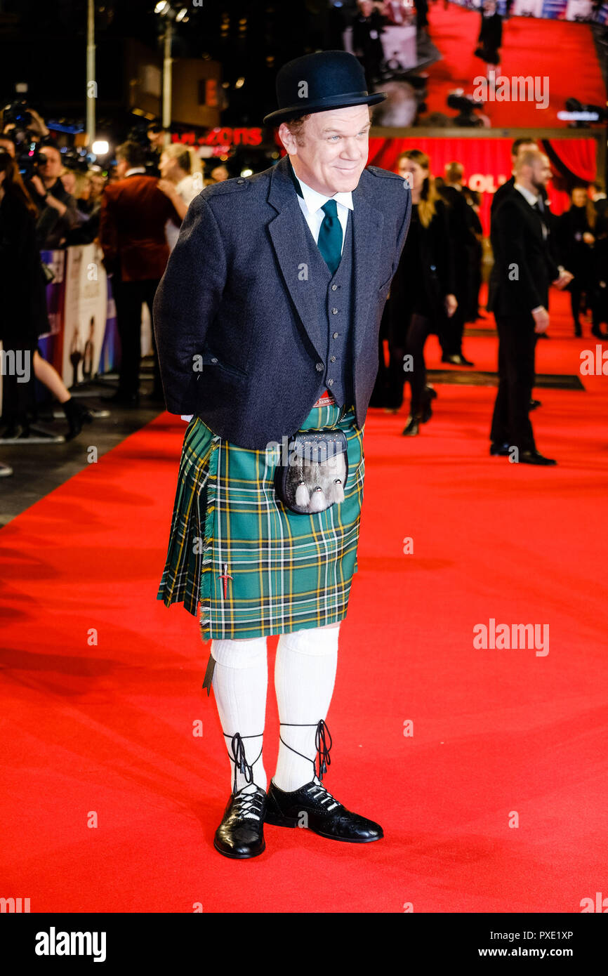 London, UK. 21st Oct 2018. Actor John C. Reilly at the London Film Festival Closing Night Gala of STAN AND OLLIE on Sunday 21 October 2018 held at Cineworld Leicester Square, London. Pictured: John C. Reilly. Picture by Julie Edwards. Credit: Julie Edwards/Alamy Live News - Stock Image