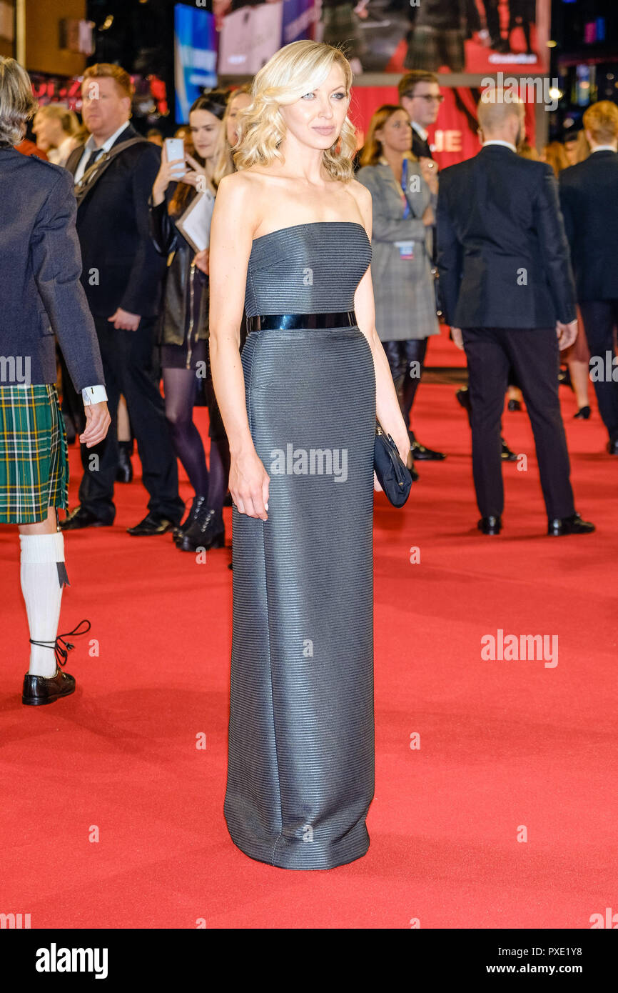 London, UK. 21st Oct 2018. Actor Nina Arianda at the London Film Festival Closing Night Gala of STAN AND OLLIE on Sunday 21 October 2018 held at Cineworld Leicester Square, London. Pictured: Nina Arianda. Picture by Julie Edwards. Credit: Julie Edwards/Alamy Live News - Stock Image