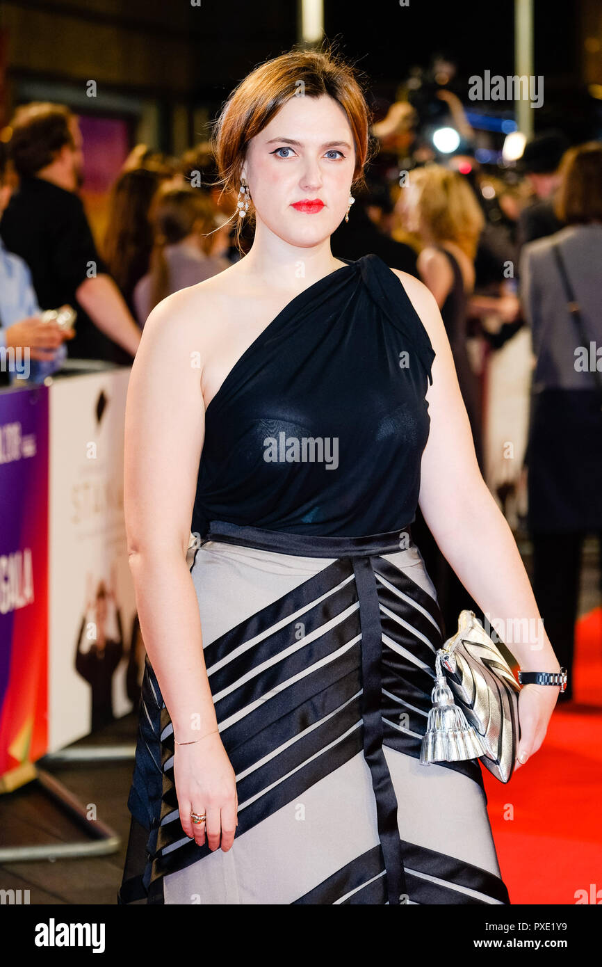 London, UK. 21st Oct 2018. Chanya Button at the London Film Festival Closing Night Gala of STAN AND OLLIE on Sunday 21 October 2018 held at Cineworld Leicester Square, London. Pictured: Chanya Button. Picture by Julie Edwards. Credit: Julie Edwards/Alamy Live News - Stock Image