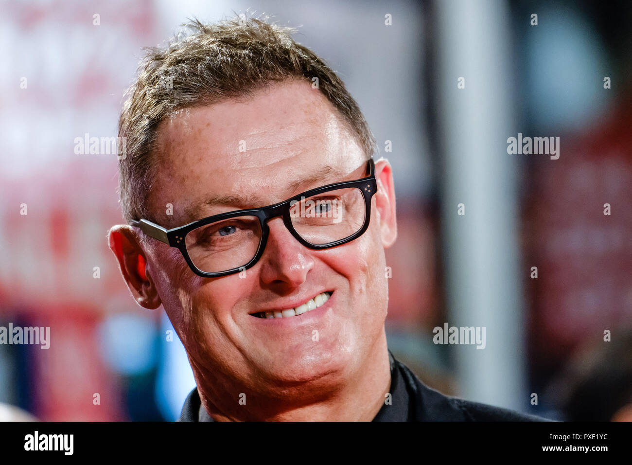 London, UK. 21st Oct 2018. Screenwriter Jeff Pope at the London Film Festival Closing Night Gala of STAN AND OLLIE on Sunday 21 October 2018 held at Cineworld Leicester Square, London. Pictured: Jeff Pope. Picture by Julie Edwards. Credit: Julie Edwards/Alamy Live News - Stock Image