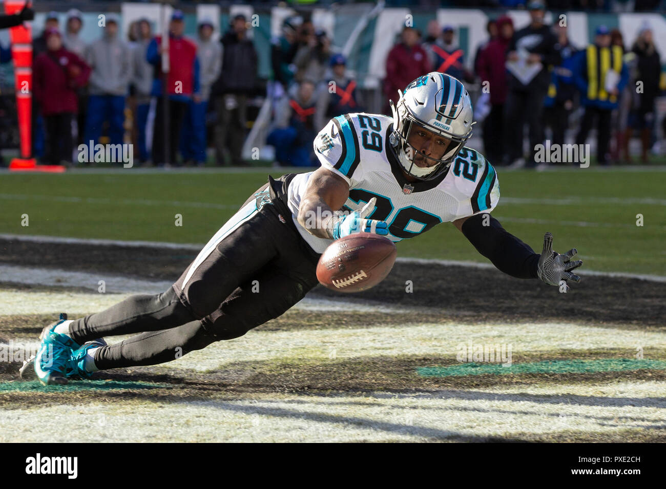 344c3004c Carolina Panthers free safety Mike Adams (29) unable to make the  interception during the NFL game between the Carolina Panthers and the  Philadelphia Eagles ...