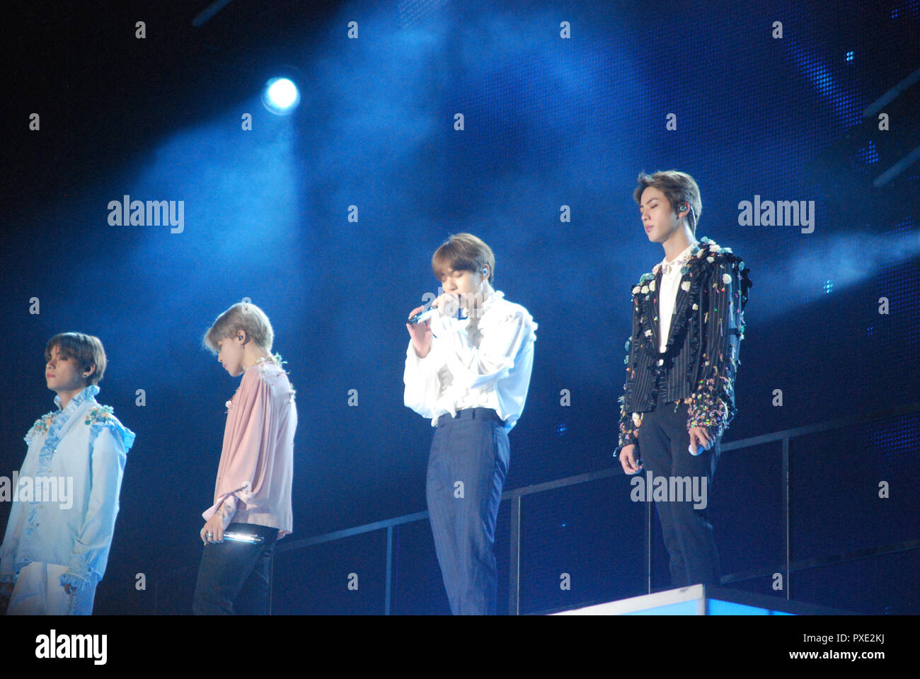 BTS World Tour, Queens, NY October 6, 2018 - Stock Image