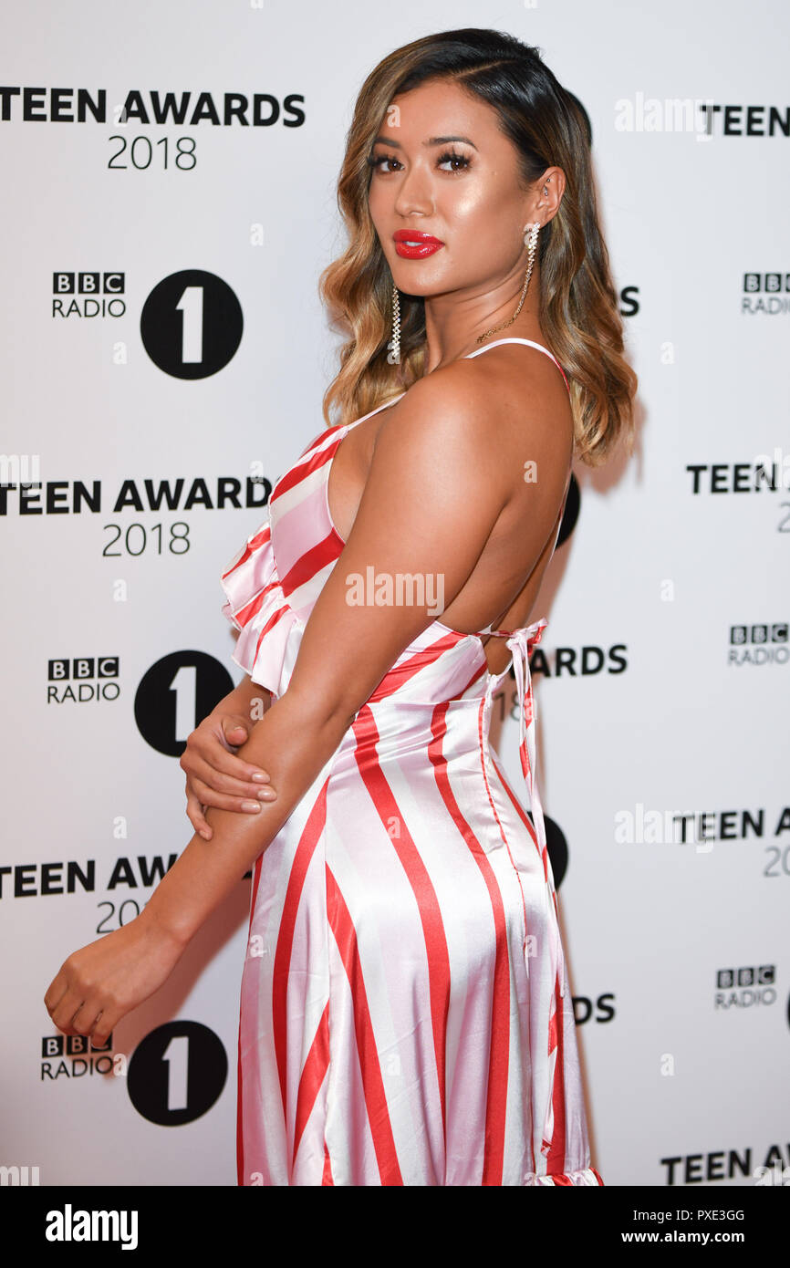 LONDON, UK. October 21, 2018: Kaz Crossley at tthe BBC Radio 1 Teen Awards 2018 at Wembley Stadium, London. Picture: Steve Vas/Featureflash Credit: Paul Smith/Alamy Live News - Stock Image