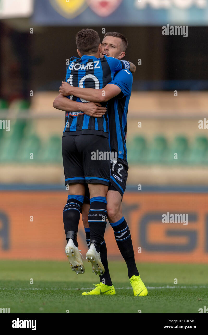 Josip Ilicic (Atalanta) celebrates after scoring his team's