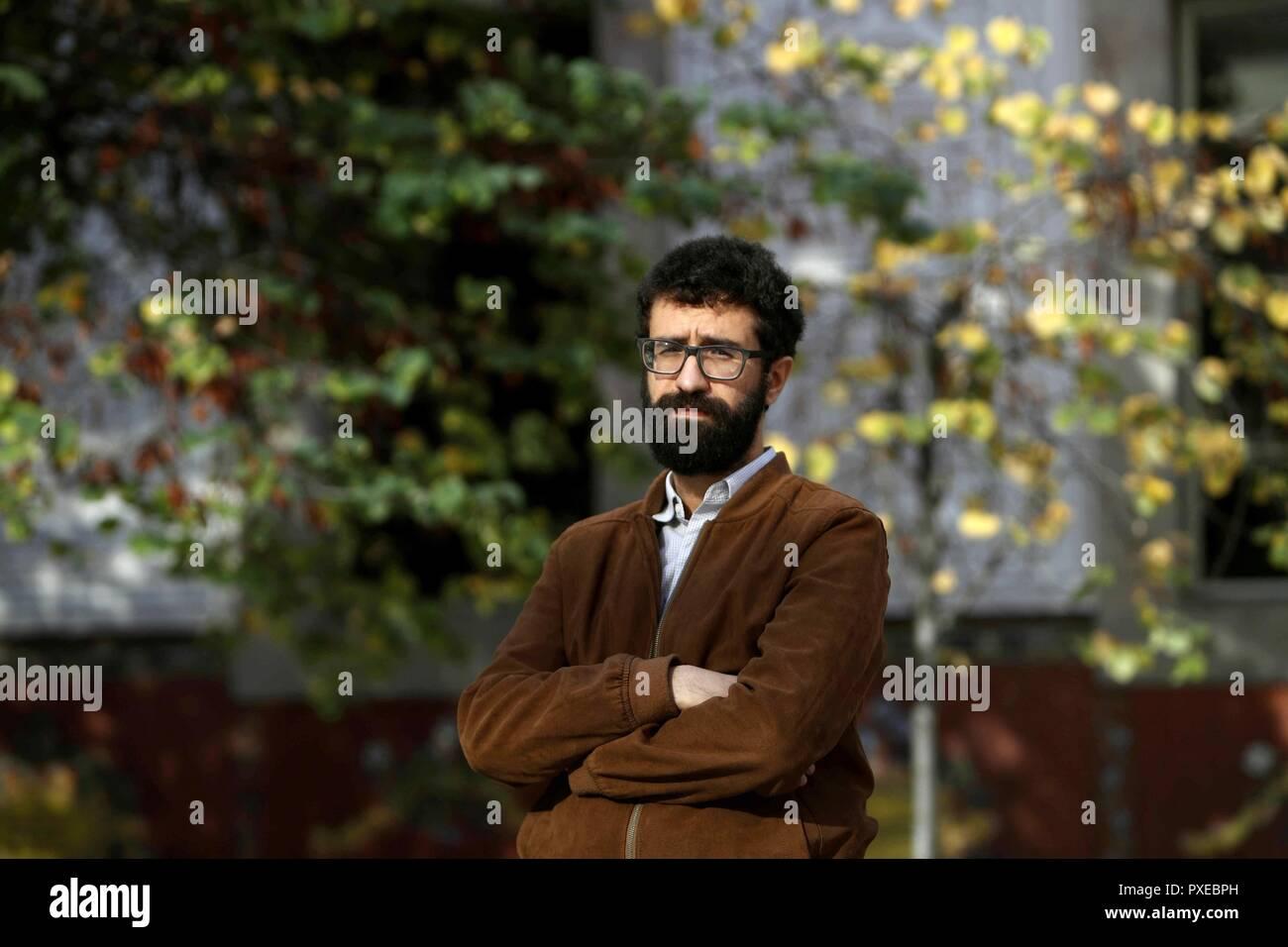 Barcelona, Spain  22nd Oct, 2018  French writer Sabri Louatah poses