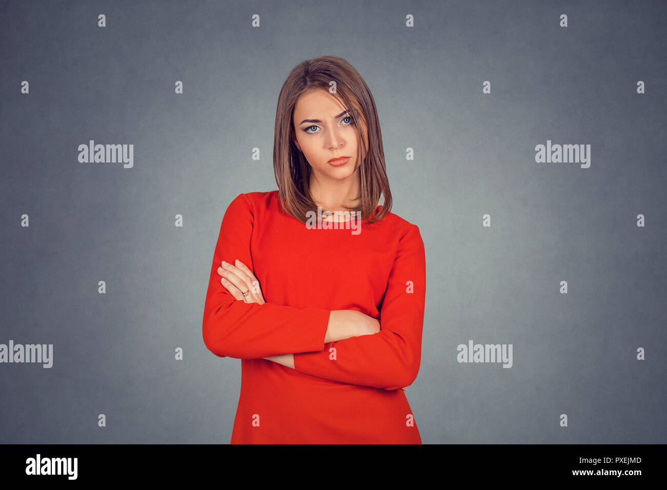 Grumpy wife. - Stock Image