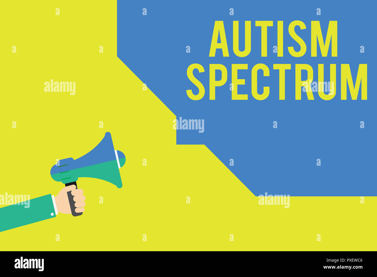 Word writing text Autism Spectrum. Business concept for impairments in the ability to communicate and socialize. - Stock Image