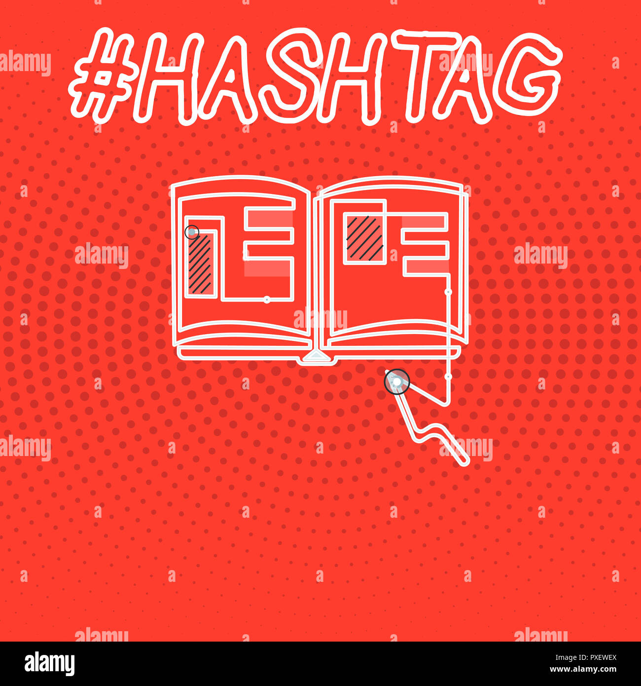 Writing note showing Hashtag  Business photo showcasing Internet tag