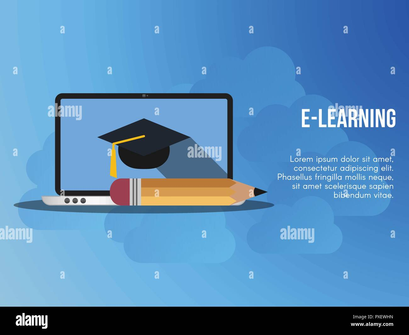 E Learning Concept Ready To Use Vector Suitable For Background Wallpaper Landing Page Web Banner And Other Creative Work Stock Vector Image Art Alamy