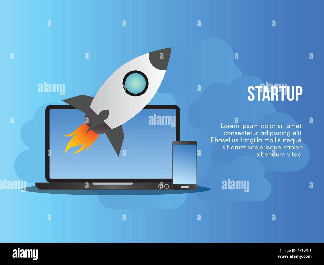 Startup business concept. Ready to use vector. Suitable for background, wallpaper, landing page, web, banner and other creative work.
