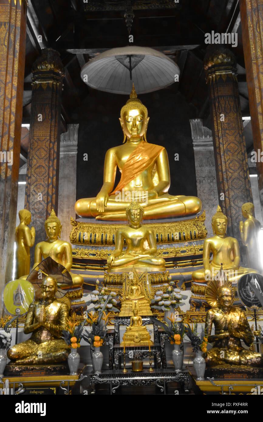 """Buddha image in """"Wat Yai Suwannaram"""" Stock Photo"""