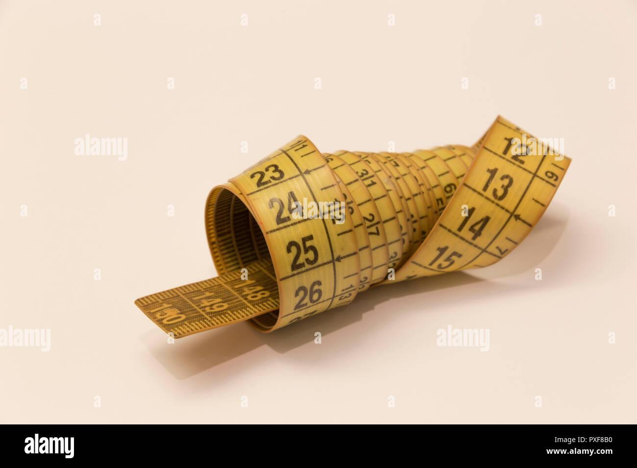 close up tape measure - Stock Image